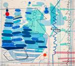 Zig Zag (2019), by Maja Maljevic (linocut, woodcut, silkscreen, etching, colour pencil, ink), Courtesy of the artist