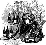 "by Edward Linley Sambourne, 1890 ""Phylloxera, a true gourmet […]"" © Punch, Source: Wikipedia"
