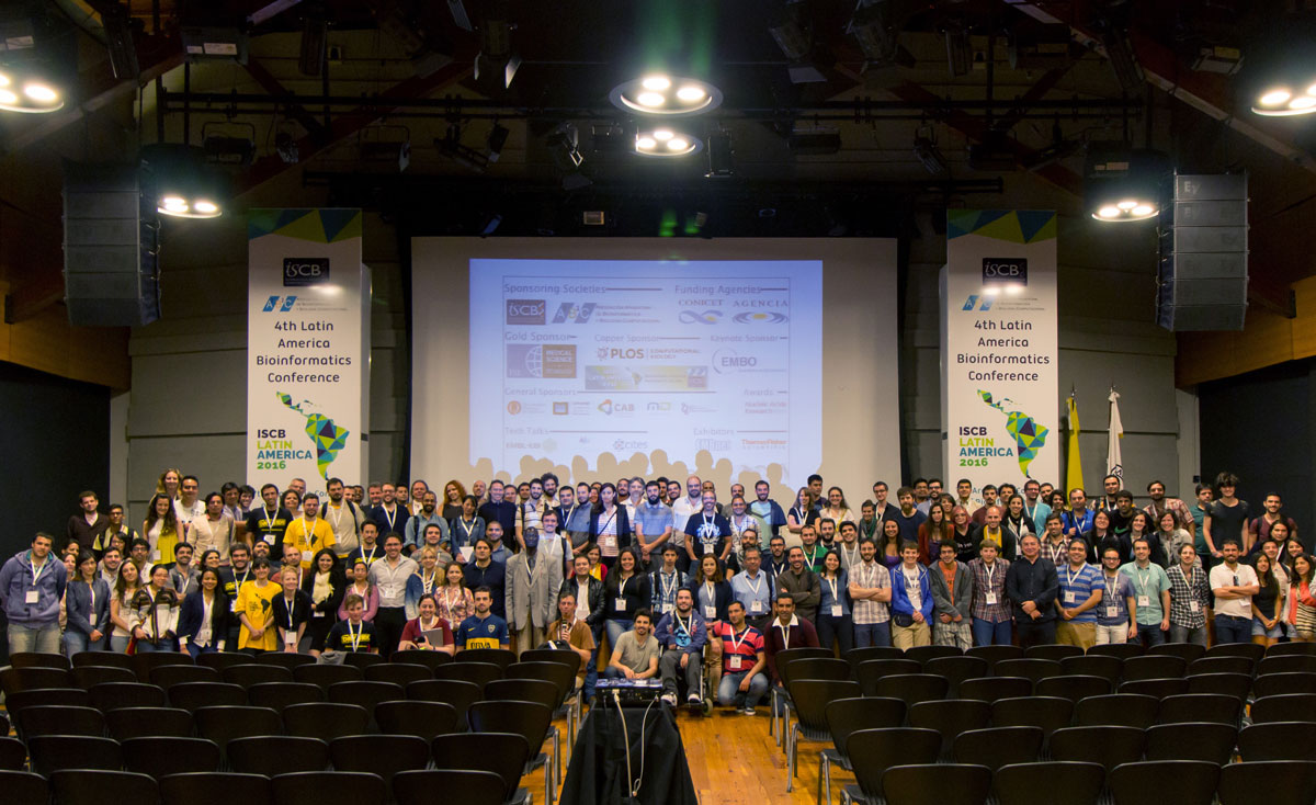 ISCB-LA 2016 conference group photography. Photo by Franco L. Simonetti.
