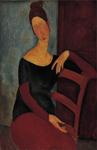 Portrait of Jeanne Hebuterne (1918) by Amadeo Modigliani (1863-1945)
